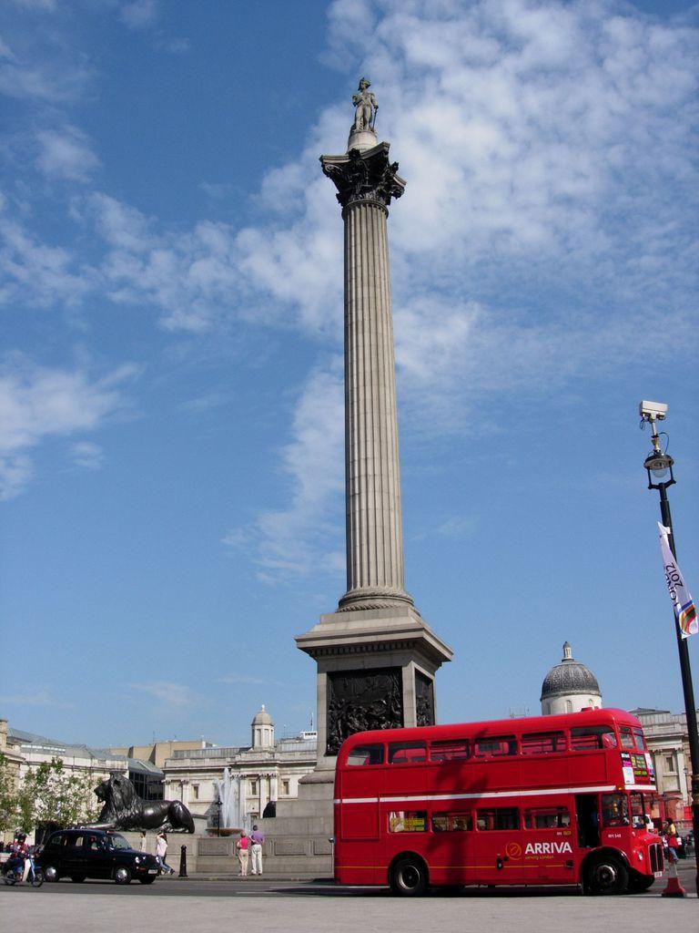 Admiral Lord Nelson Statue, Trafalgar Square, London Photo.