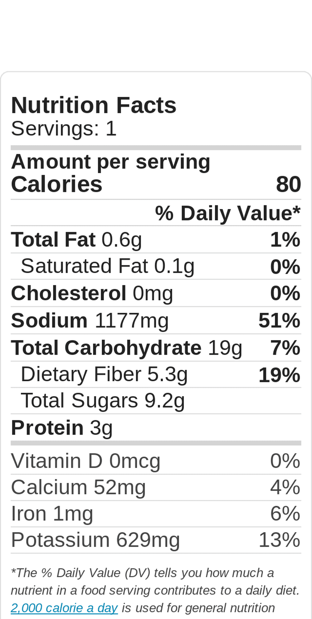 Nutritional data for fresh salsa. One serving is approx. the amount made in one recipe.