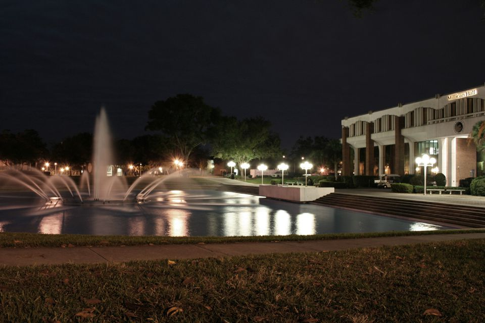 Millican Hall and Reflection Pond at UCF