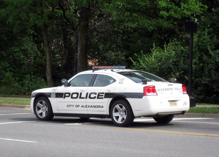 Police car in Alexandria, Virginia.