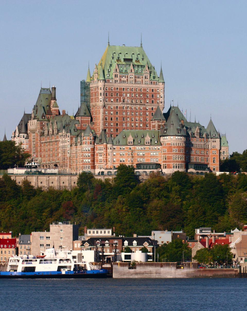 Quebec City's famou hotel, Fairmont Chateau Frontenac