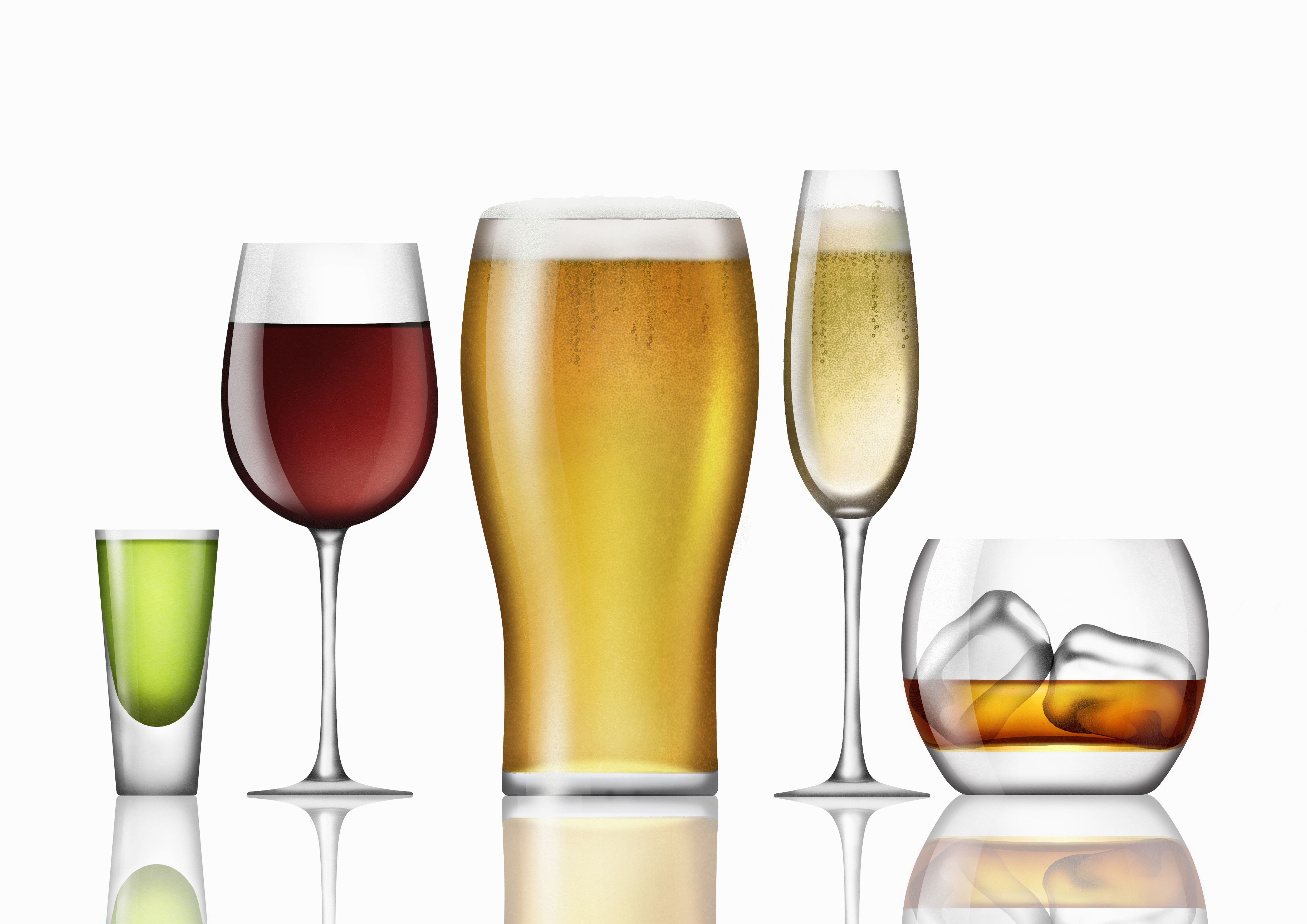 Where do different types of alcohol come from for Mix drinks with wine