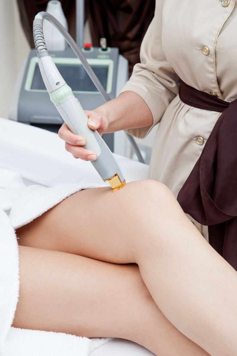 Person getting hair laser