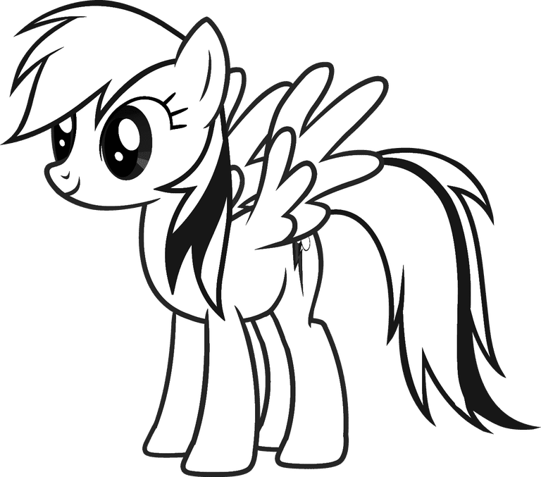 Rainbow Dash My Little Pony Free Coloring Page