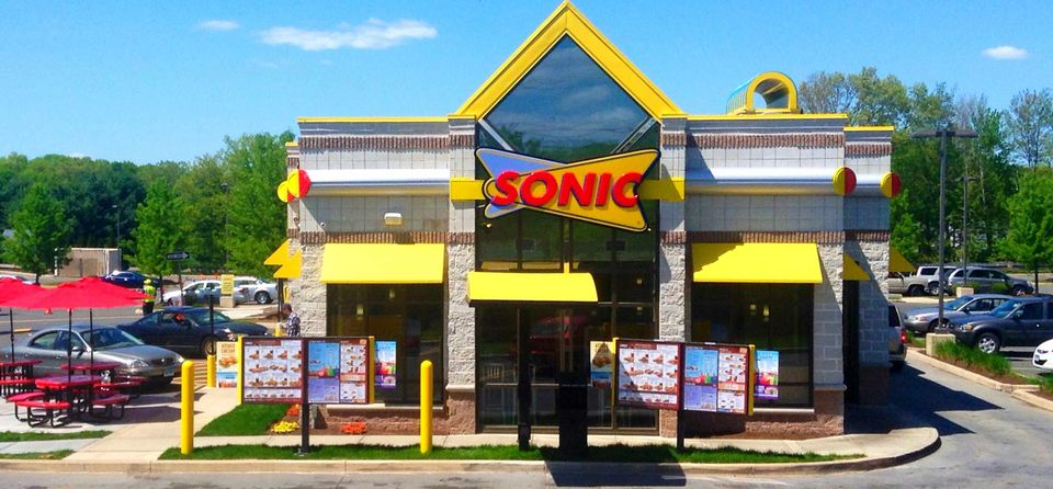 A picture of a Sonic drive in restaurant