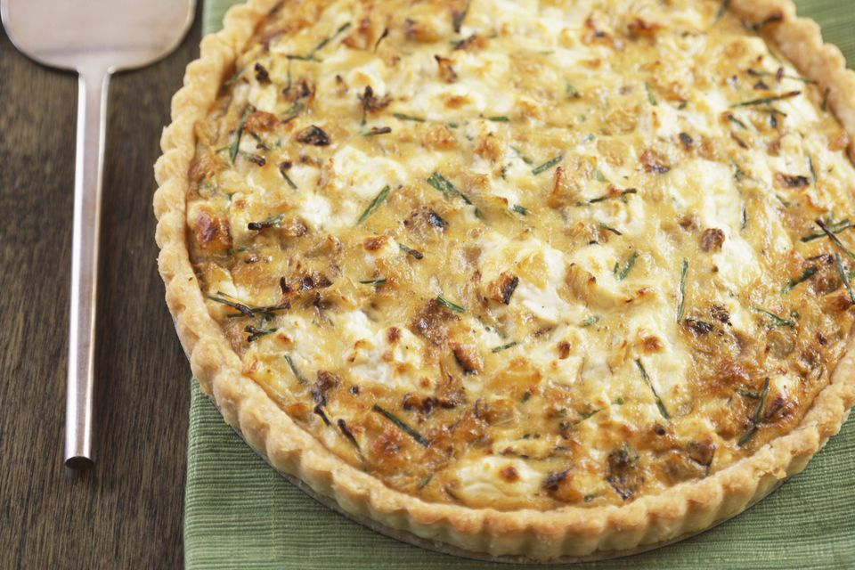 egg and sausage quiche