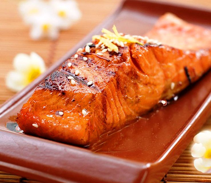 Pan-Seared Salmon with Special Thai Sauce - Exquisite!