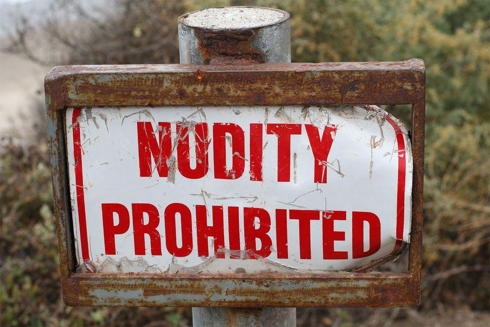 Nudity Prohibited