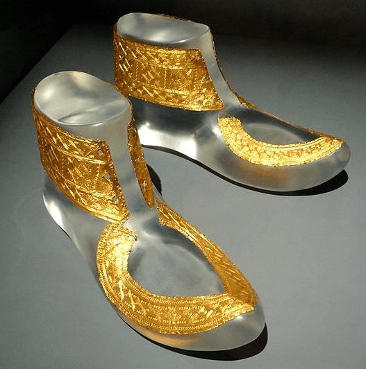 Golden Footwear of Celtic Chieftain at Hochdorf