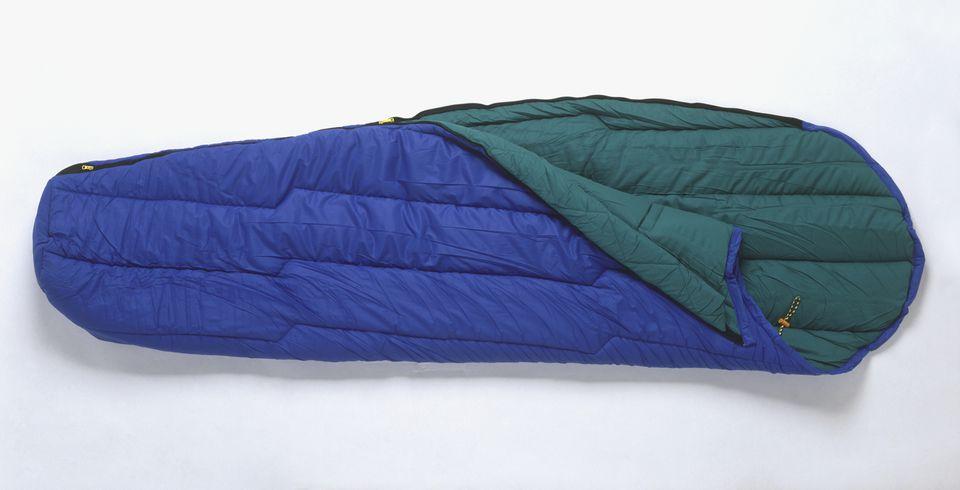 sleeping bag on white background