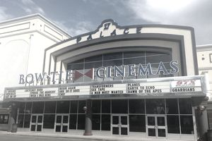 The front of a Bow Tie Cinemas.