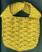Crocheted Baby Bib in Solid Shell Stitch