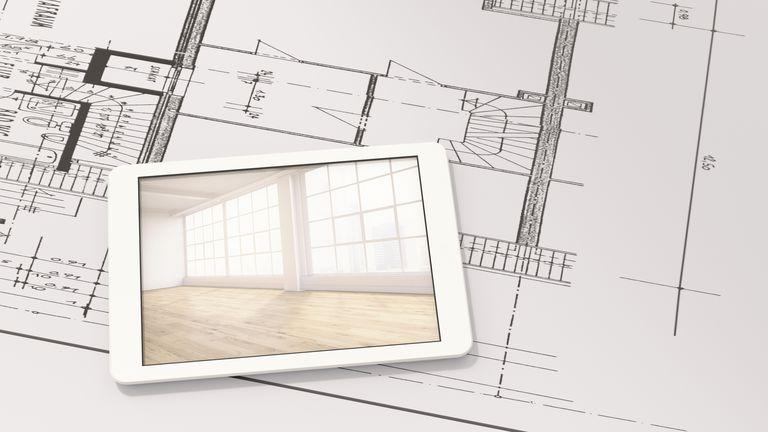 Smart home app on digital tablet