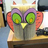 Paperback Book Owl Craft