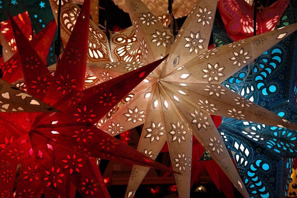 Shining star decorations