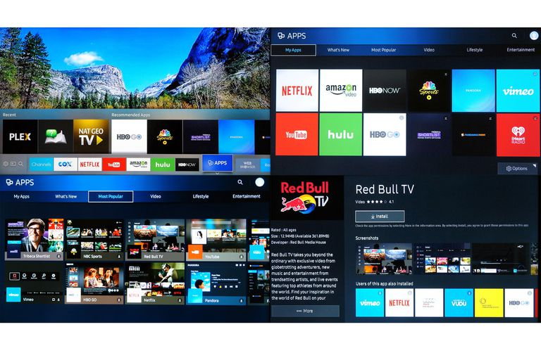 Samsung Simplified Smart TV Hub and Apps Menus - 2016