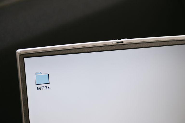 MP3 folder on a computer desktop