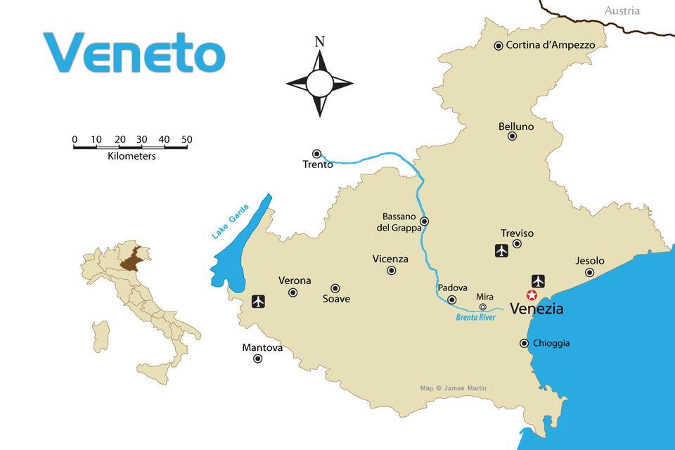 Veneto region of northern italy tourist map with cities veneto region tourist map with cities gumiabroncs Images