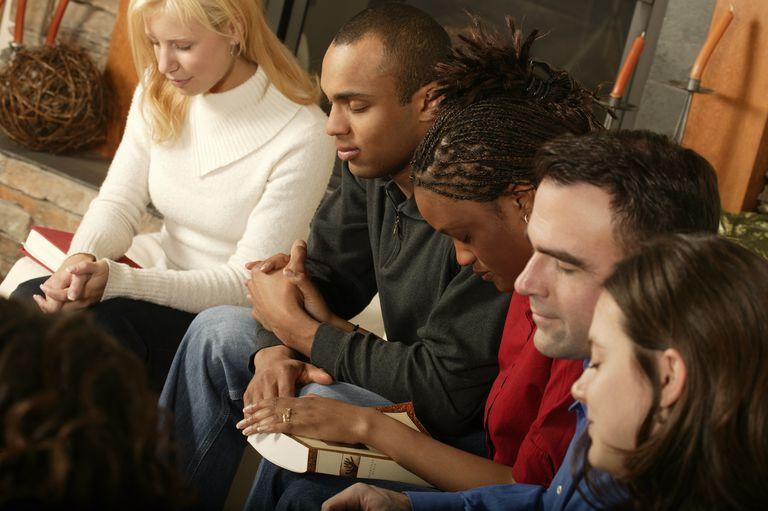 Group Prayer at a Bible Study Group