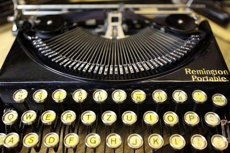 A Remington Portable typewriter