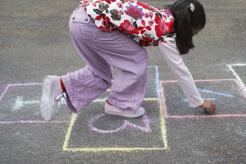 hopscotch is great fun for grandkids