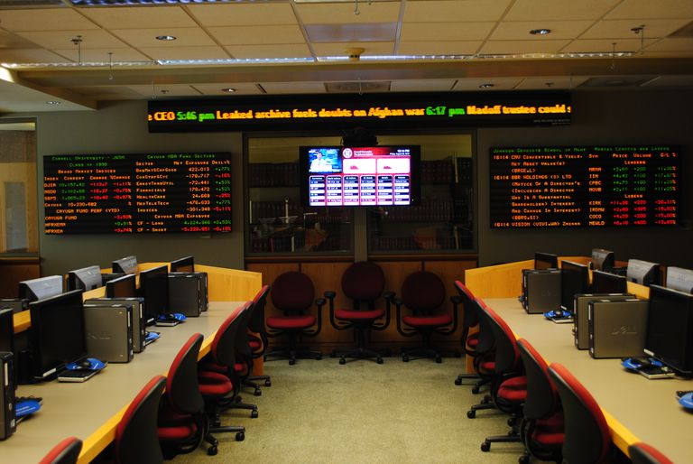 Boas Trading Room, Parker Center for Investment Research, Johnson School (Sage Hall), Cornell University