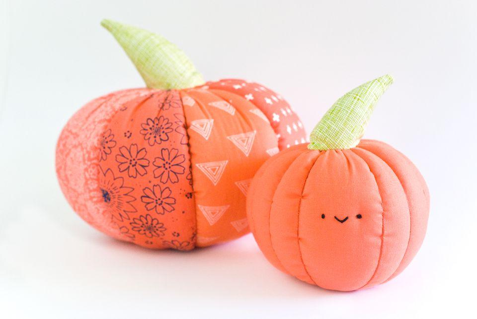 Stuffed Pumpkin Pillows