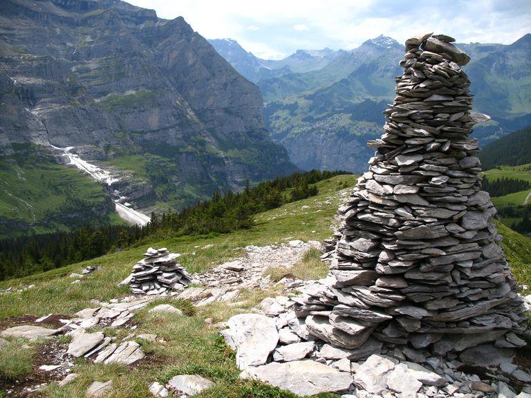 Rock Cairn near Eigergletscher Station, Switzerland