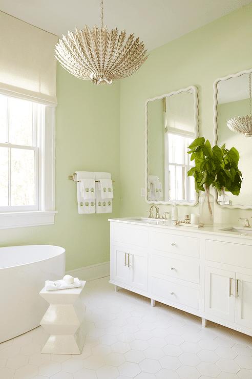 50 inspiring bathroom design ideas for Green and white bathroom