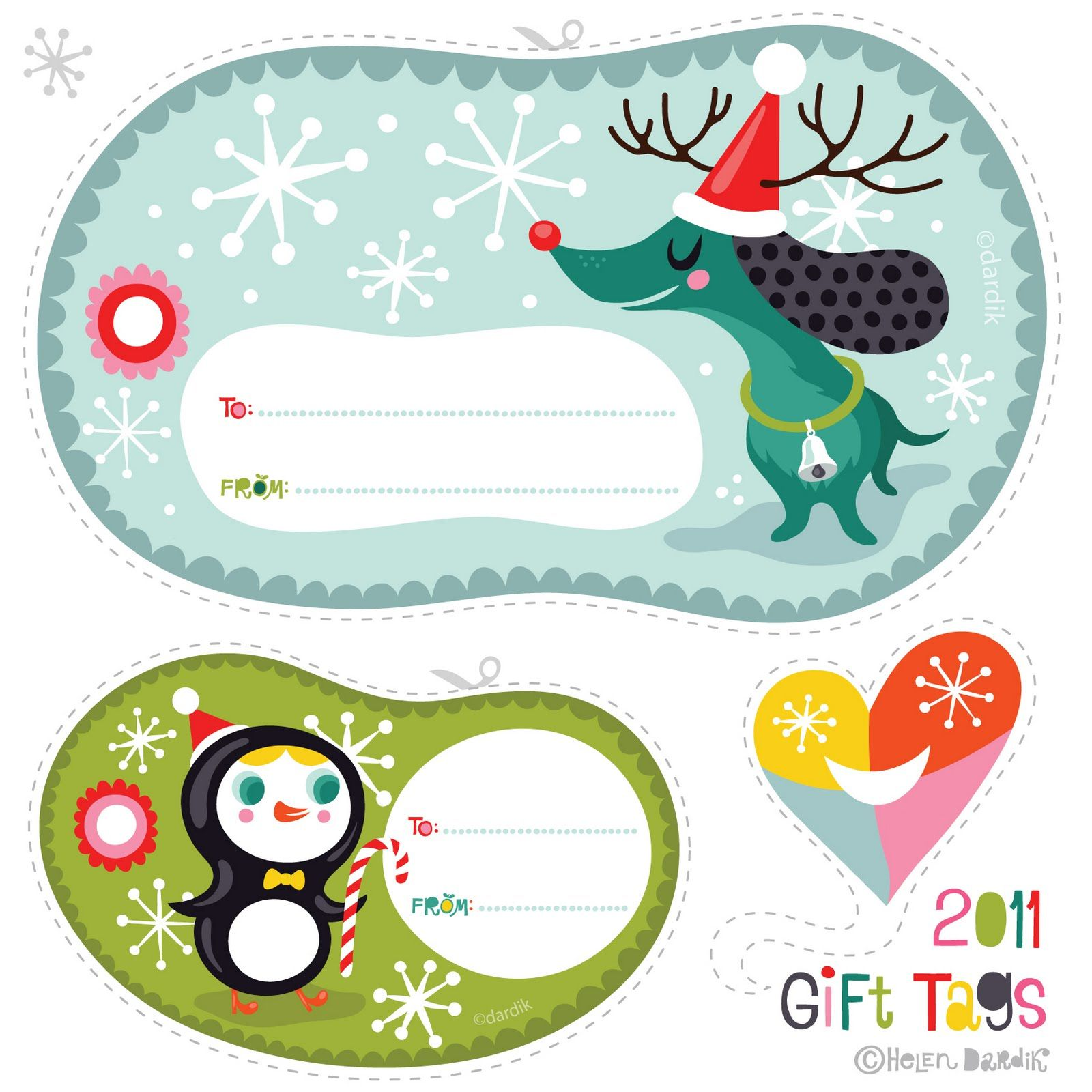 41 sets of free printable christmas gift tags