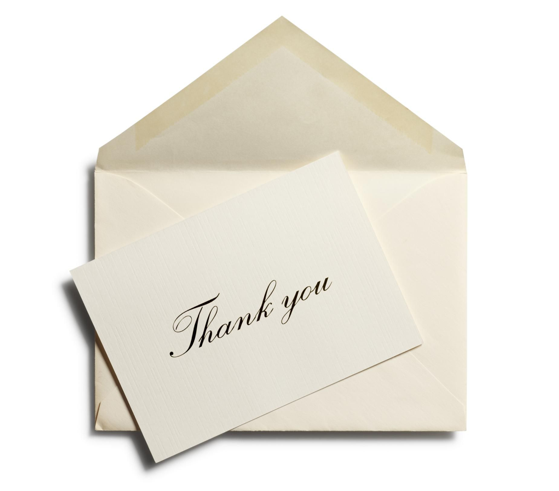 Wedding Thank You Note Wording – Thank You Card Examples Wedding
