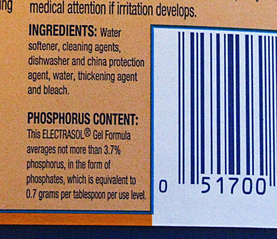 Cleaning Label: Ingredients