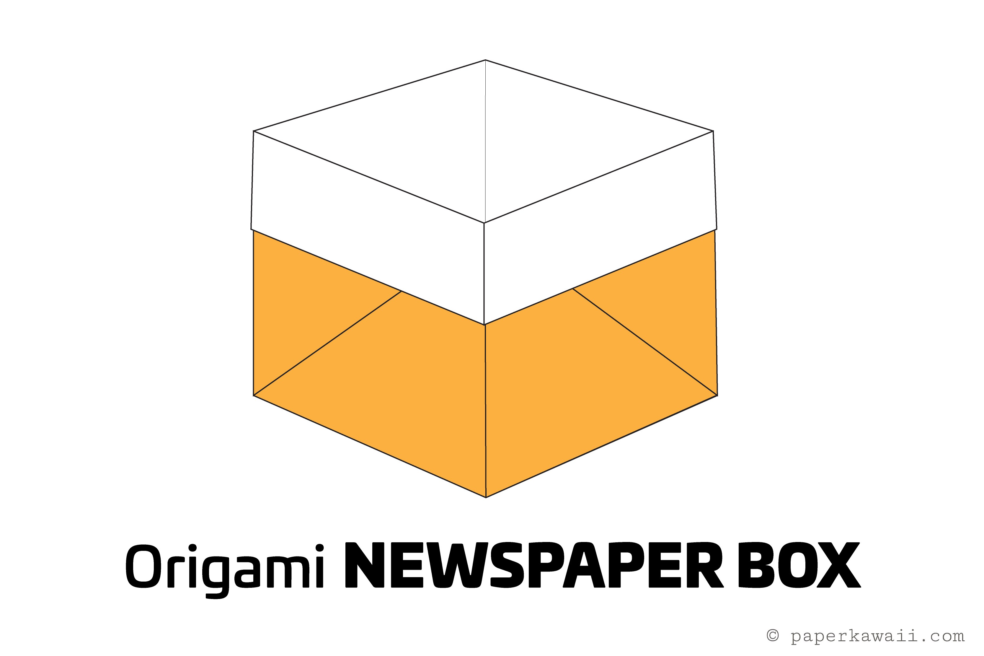 Origami cake box tutorial easy origami newspaper box tutorial jeuxipadfo Choice Image