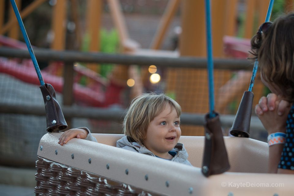Toddler on the Balloon Ride at Knott's Berry Farm