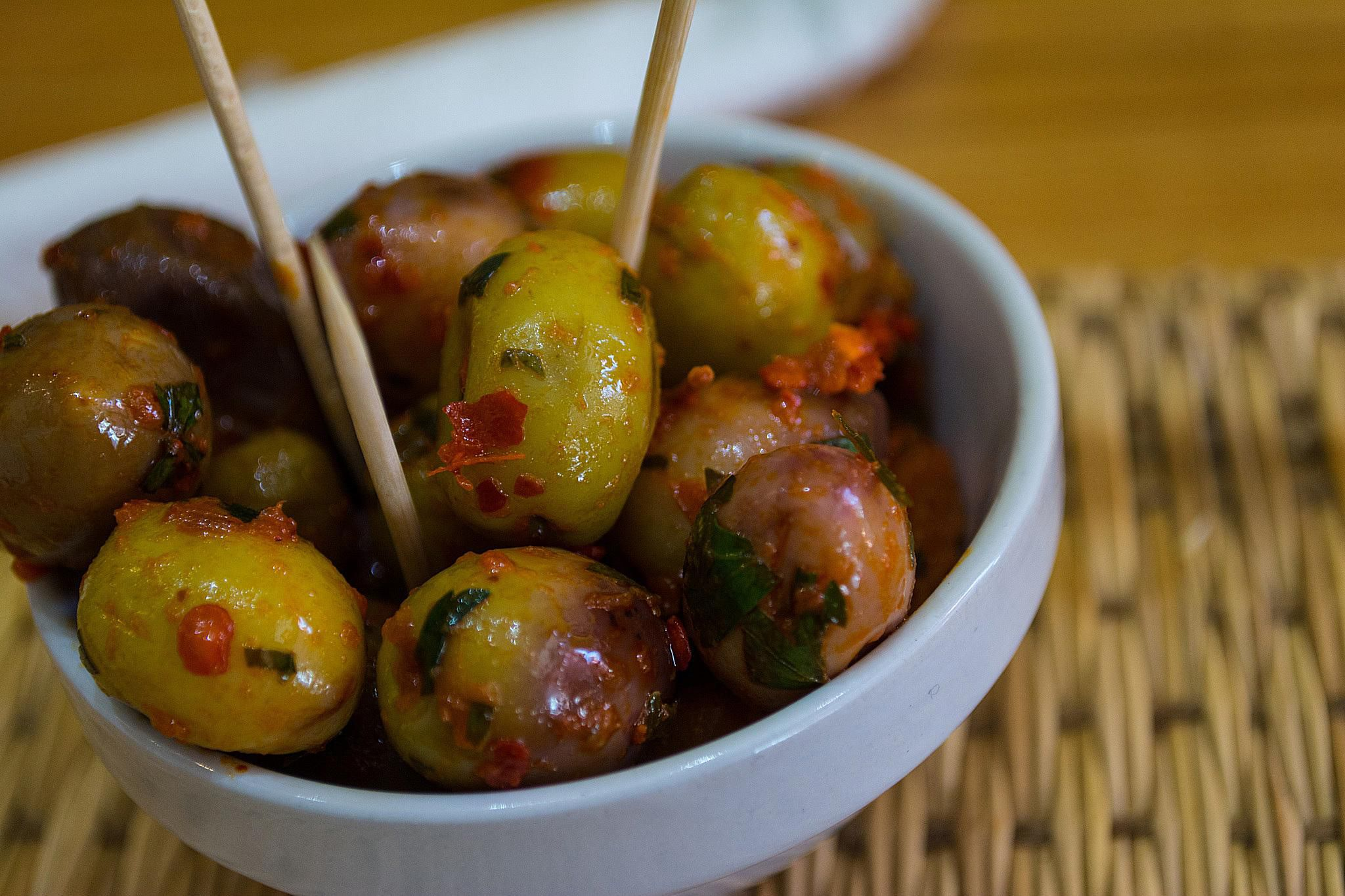 Moroccan Olives With Harissa Recipe