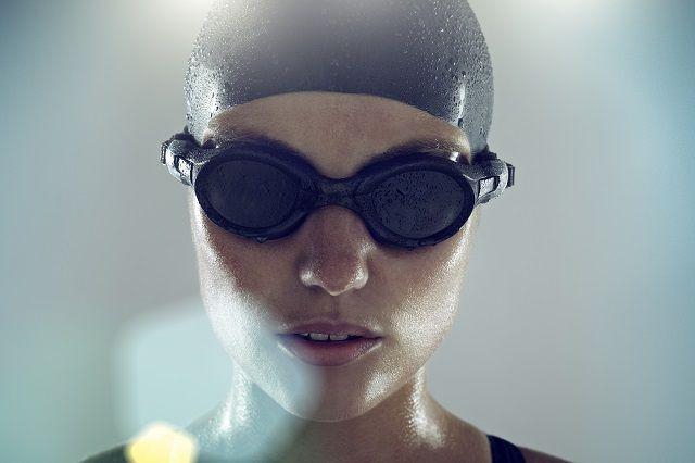swimmer in goggles