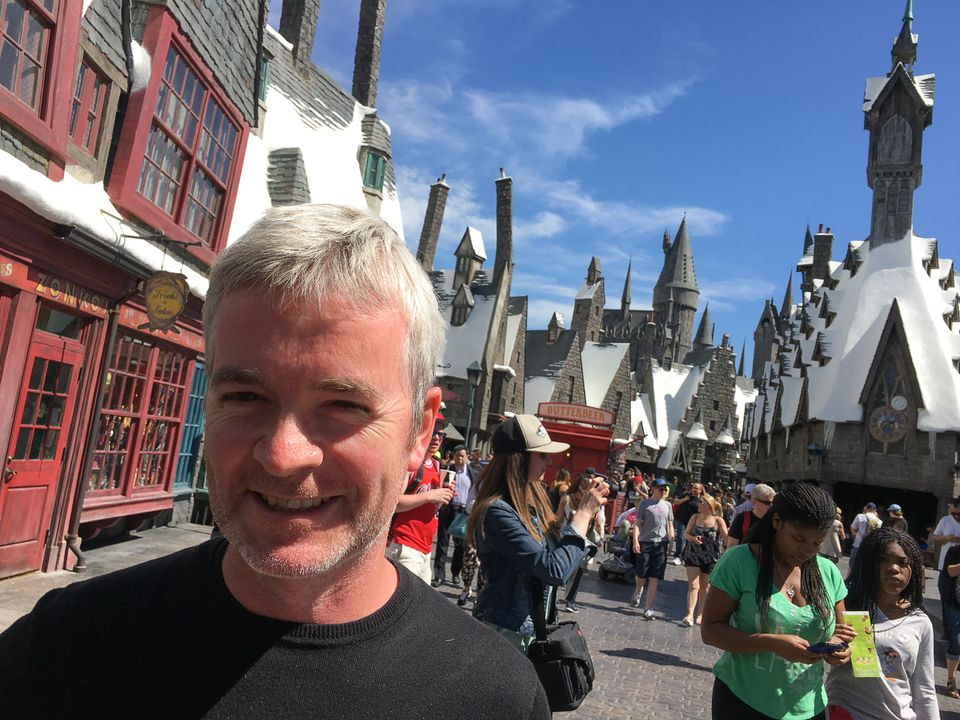 Alan Gilmore at the Wizarding World at Universal Studios Hollywood