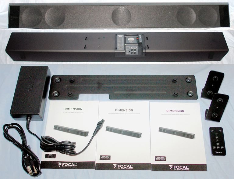 Focal Dimension Sound Bar - Package Contents