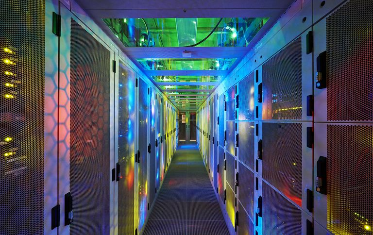 datacenter - server room with racks and equipment