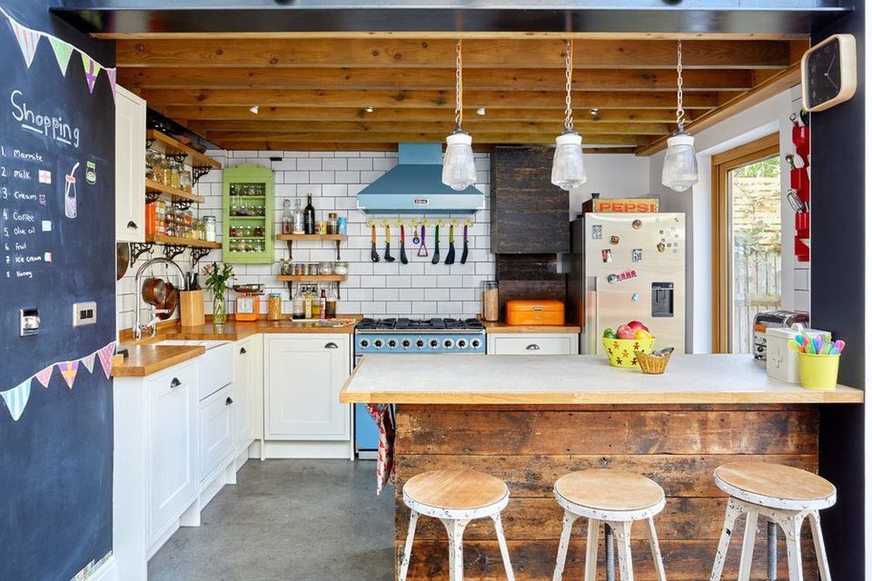 crazy colorful rustic kitchen