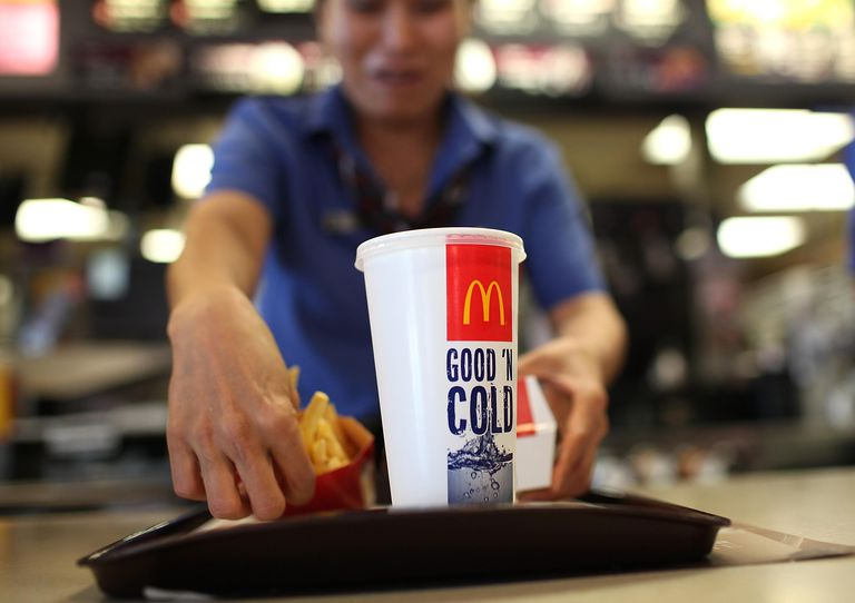 A McDonald's employee prepares an order during a one-day hiring event at a McDonald's restaurant on April 19, 2011 in San Francisco, California. Hundreds of job seekers filled out applications and were interviewed at a San Francisco McDonald's restaurant during a one-day nationwide event at the chain as they look to fill 50,000 positions at stores nationwide.