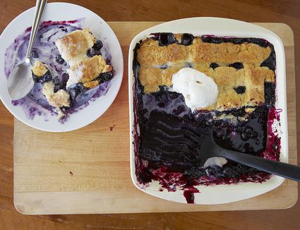 Blueberry Cobbler With Biscuit Like Topping Recipe