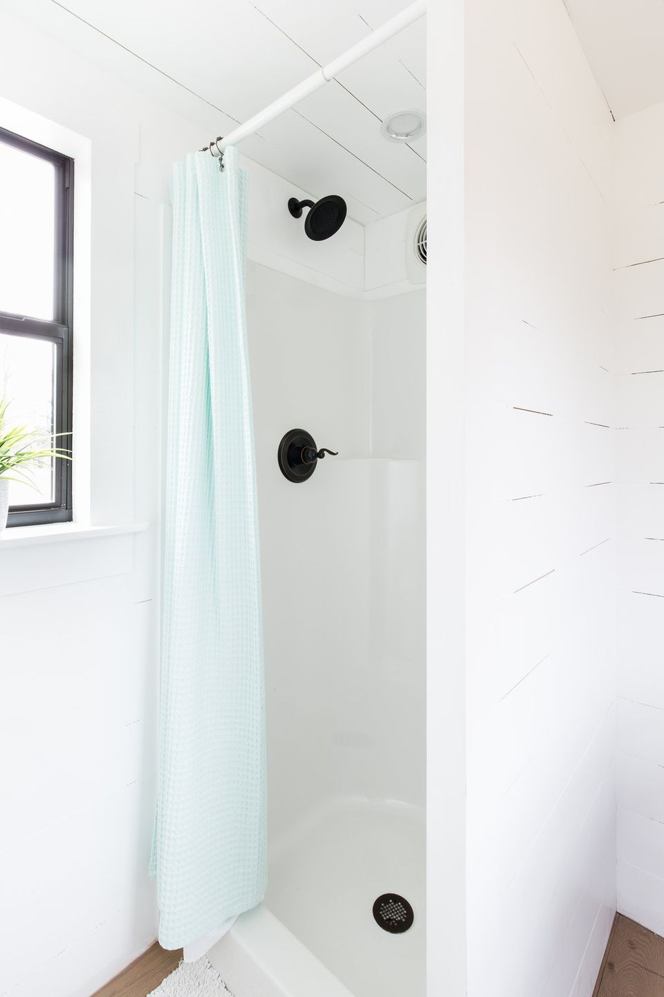 curtain shower narrow bathroom colorful stalls ideas tiny small remodel stall
