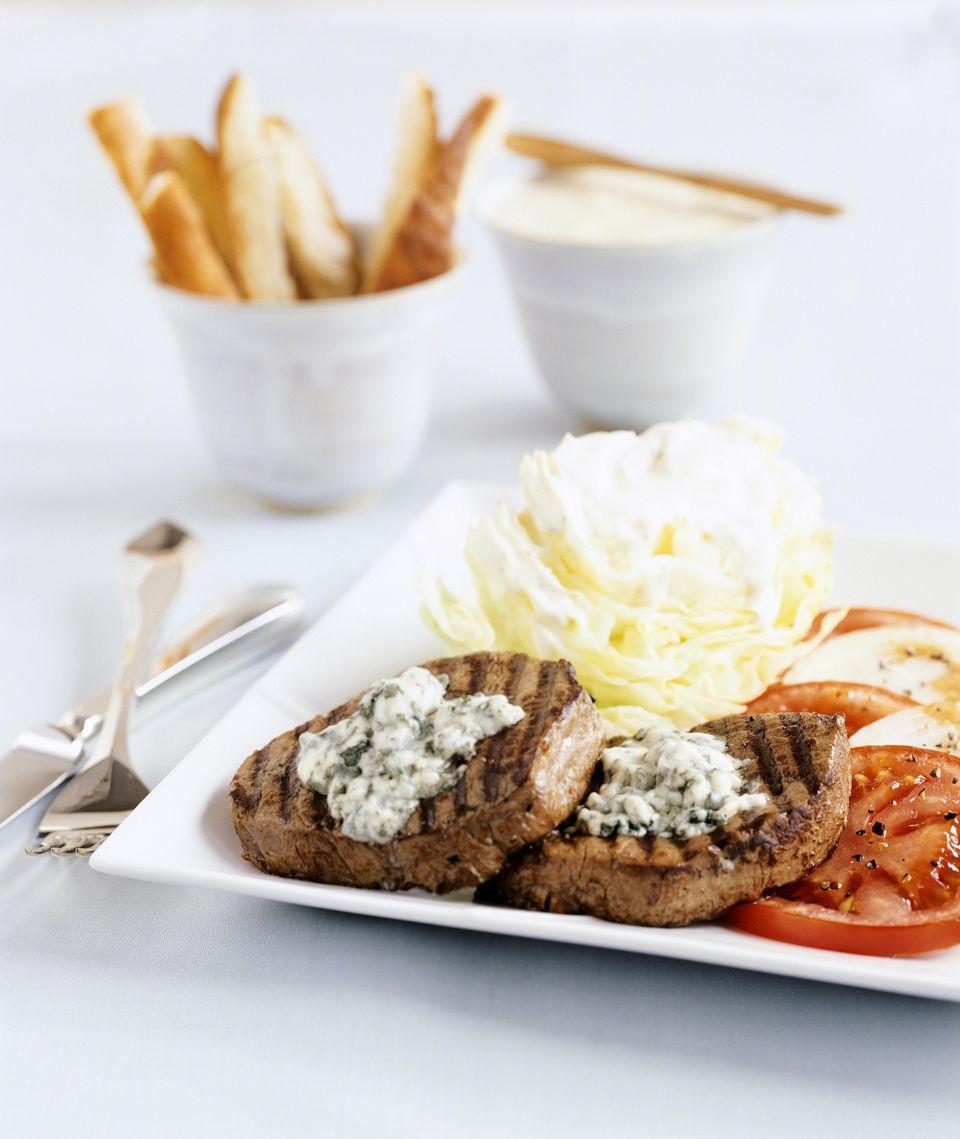 Blue Cheese Walnut Steaks