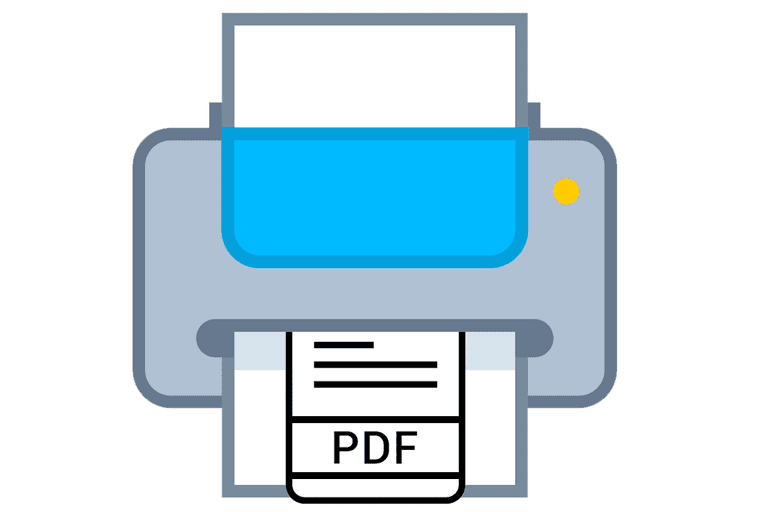 Illustration of a PDF printer