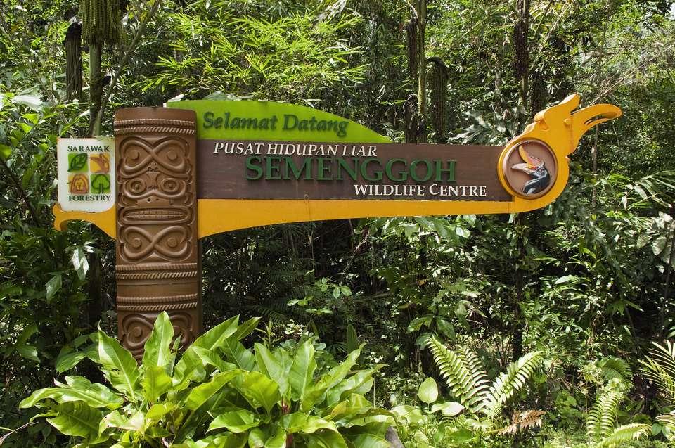 Sign at Semenggoh Wildlife Rehabilitation Centre near Kuching