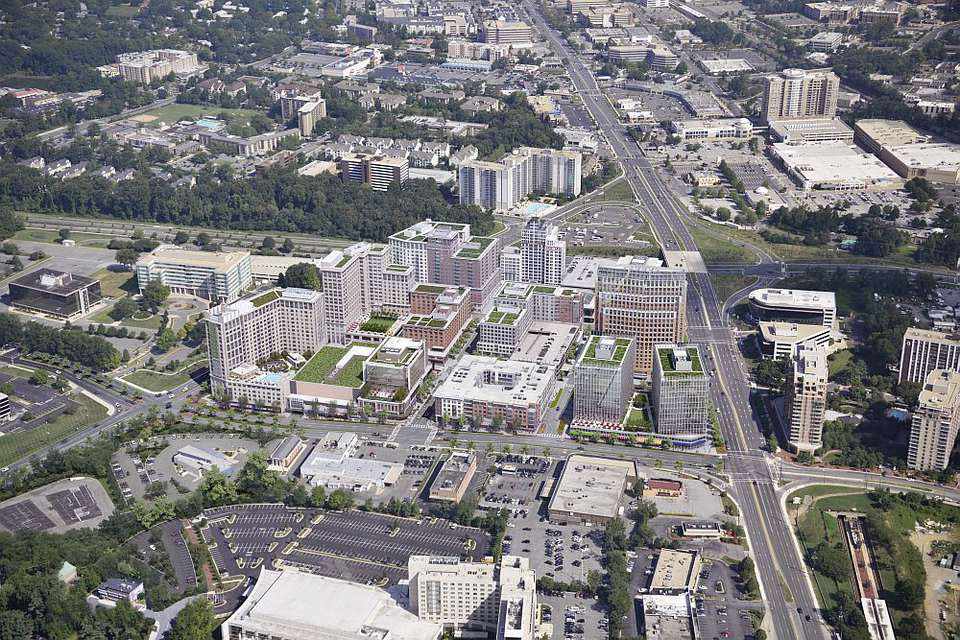 Aerial view of the White Flint Corridor Redevelopment area