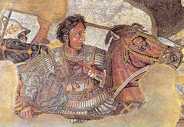 Alexander mosaic from House of the Faun in Pompeii.