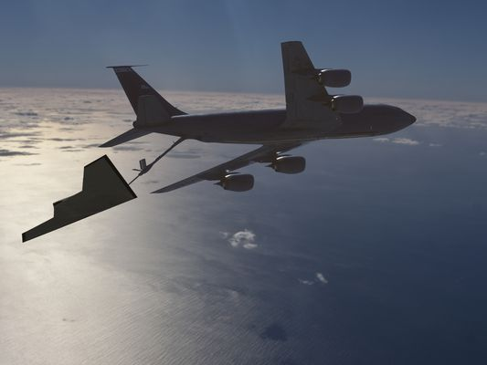 Air Force KC-135R Refueling Unmanned Aircraft