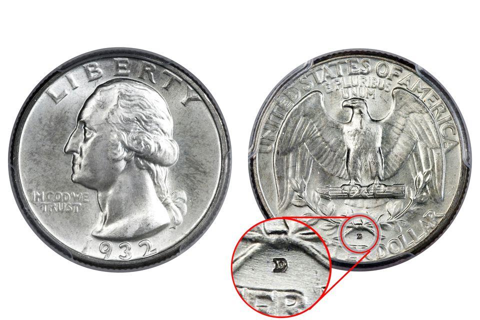 1932-D Washington Quarter Key date rare coin